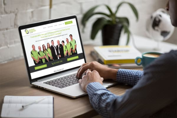Advanced Technology Website Mock-Up